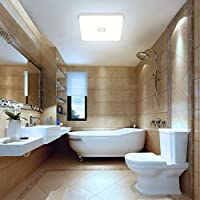 Deckenlampe LED Deckenleuchte Wasserdicht Lampe Decke Moderne Quadratische  Dünne 24W 2050LM IP44 4000K Neutralweiß Öuesen Deckenlampe Badezimmer Küche  ...