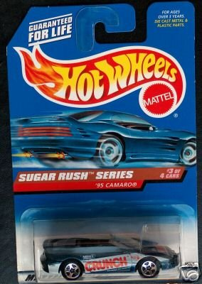 Hot Wheels - 1998 Sugar Rush Series - 1995 Camaro - Nestle Crunch Paint Job - #3 of 4 - Die Cast - Limited Edition - Collectible 1:64 Scale - Hot Wheels Sugar