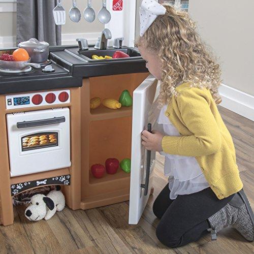51gEFrRB0ZL - Step2 899399 Espresso Bar Play Kitchen for Kids, Tan