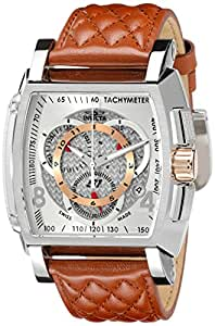 Invicta Men's 5402 S1 Collection Chronograph Brown Leather Strap Watch