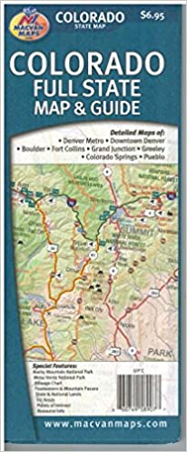 Colorado Full State Map Guide Macvan Map Company 9781891589072