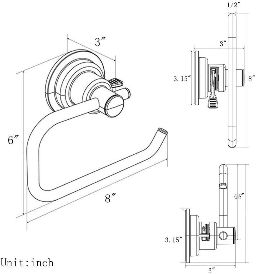 BoPai Heavy Duty Vacuum Suction Cup Paper Holder Bracket for Bathroom Toilet Kitchen