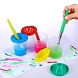 Spill Proof Paint Cups ULTNICE 4pcs Non Spill
