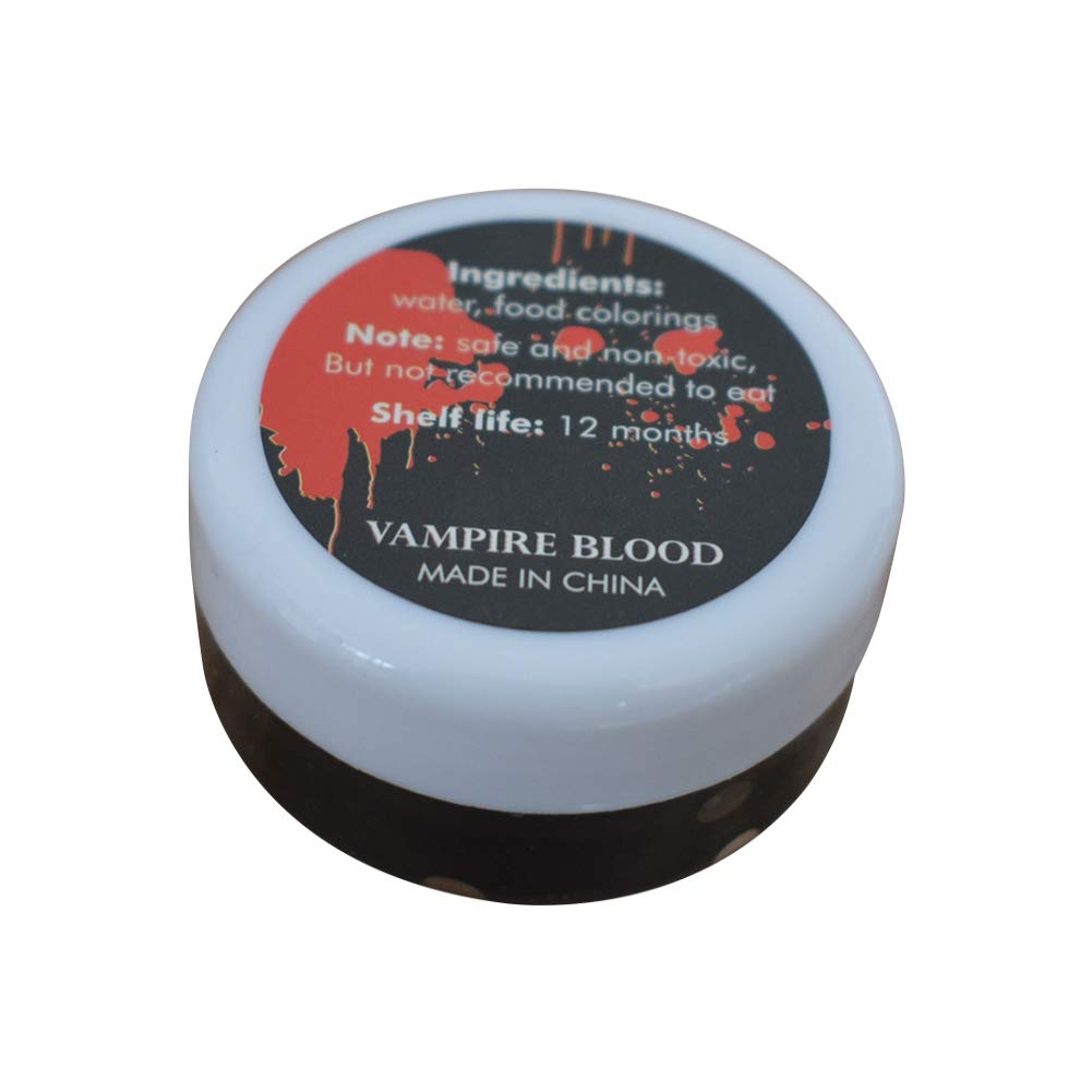 Angmile Thick Blood Realistic artificial plasma Fake Blood Professional Face Body Paint Oil Fake Clot Blood Gel Makeup Blood Gel Vampires Scars Halloween Party Masquerade Cosplay Accessories(30ml)