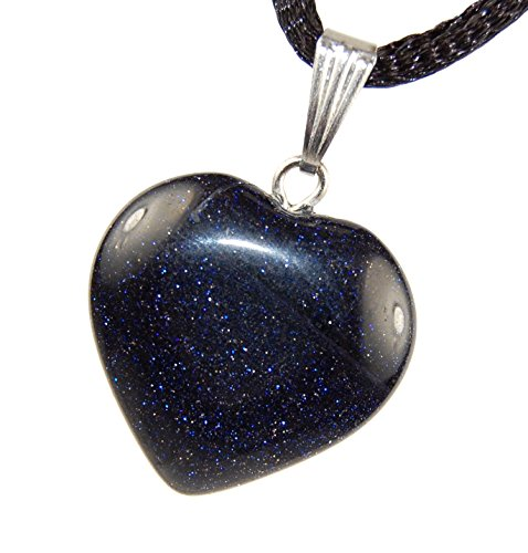 - Big Heart Collection - 20mm Classic Galaxy Goldstone Blue Sparkle - 20