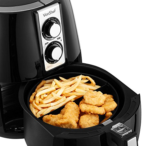 VonShef Air Fryer 1230W – Black 2.3QT