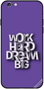 For iPhone 6 Plus Case Work Hard Dream Big 3D