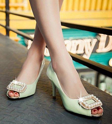 Aisun Toe Sandalen Grün in Stilettos Trendy Peep Twq4ZAHT