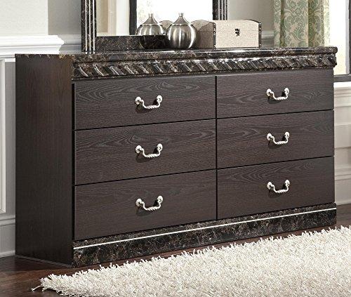 Signature Design by Ashley B264-31 Vachel Collection Dresser, Dark Brown