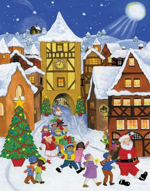Vermont Christmas Company Santa's Parade Greeting Card Advent Calendar