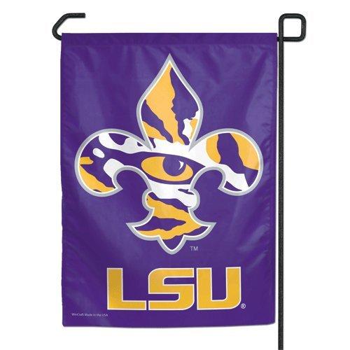 - LSU Tigers TIGER EYE FLEUR DE LIS YARD FLAG Banner Louisiana State Garden Flag