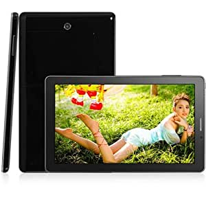 9 pulgadas P2000 Android 4.1 phablet MTK6515 1.2GHz Dual SIM Dual Band WiFi de la pantalla WVGA - Negro