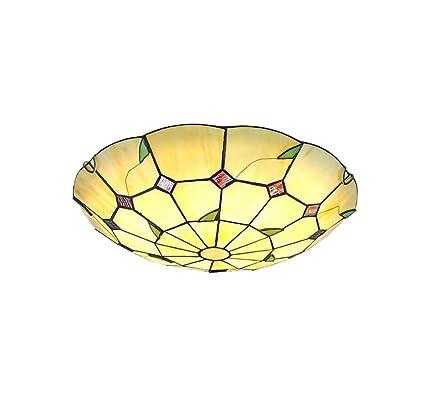 Lámpara de Techo LED de estilo Tiffany Lámpara de Techo de ...