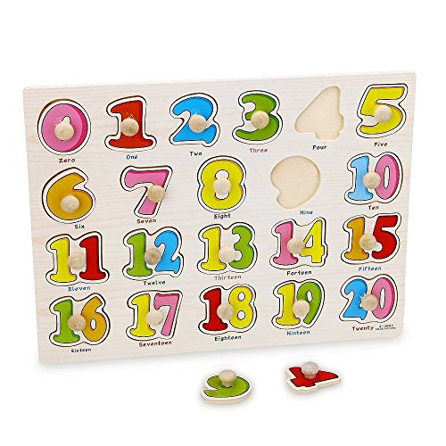 MAZIMARK- Puzzle Toy Educational Games Learning 21 Figures Wooden Children by MAZIMARK
