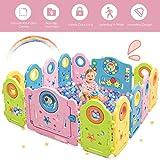 Costzon Baby Playpen, 14 Panel Portable Thicken