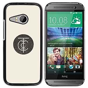 Planetar? ( Minimalist Company Logo Beige Retro ) HTC ONE MINI 2 / M8 MINI Hard Printing Protective Cover Protector Sleeve Case