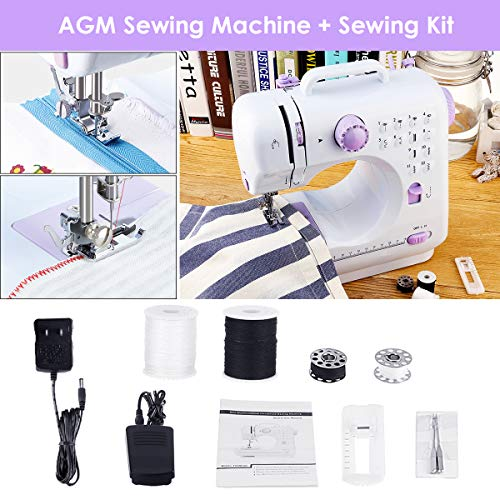 CHEAP AGM Portable Sewing Machine Uten 40 Stitches 40 Speed Heavy Enchanting Quick Sewing Machine