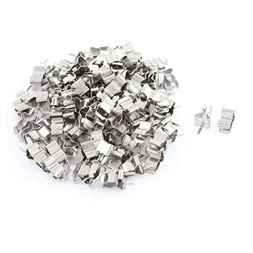 Glass Ceramic Tube Quick Fast Blow Fuse Clips Holders 5 x 20mm 100pcs ()