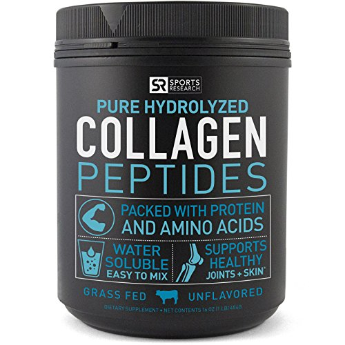 Premium Collagen Peptides (16oz) | Grass-Fed, Certified Paleo Friendly, Non-Gmo and Gluten Free – Unflavored and Easy to Mix 51gEJRmi69L