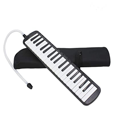 Futureshine 37 Key Melodica Instrument with Mouthpiece Air Piano Keyboard & Bag Black: Home & Kitchen