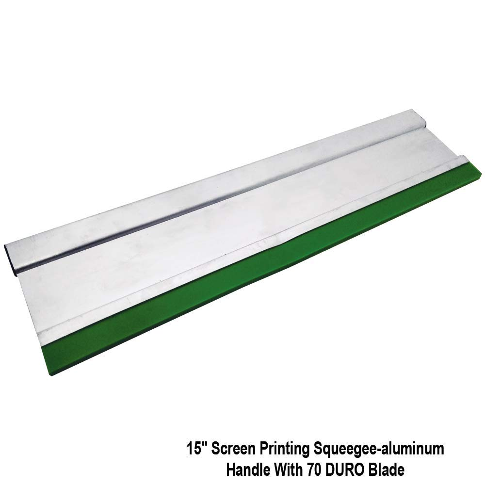 15 Screen Printing Squeegee with Aluminum Handle 70 Durometer Blade