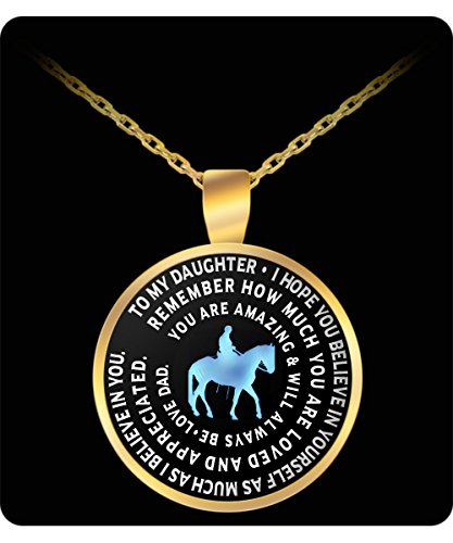Maximus Horse Costume (Horse Necklace For Daughter From Dad - Inspirational Charm Pendant - Great Gift From)