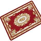 Hhdd Rubber Floor Mats, Printed Dirt Capture Mats, Living Room Bedroom Coffee Table Carpet Bathroom Anti-Slip Door Mats, Various Sizes and Colors (Color : Red, Size : 70120cm)