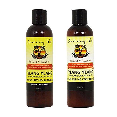"""Sunny Isle Moisturizing Ylang Ylang Shampoo 8oz & Conditioner 8oz Duo """"Set"""""""