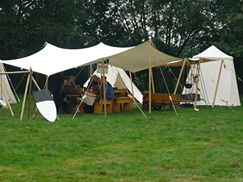 online retailer b920e 0bfbf 10ft x 10ft tarp TARPAULIN pre medival civil war canvas tent for Living  history Reenactment bell frame knight