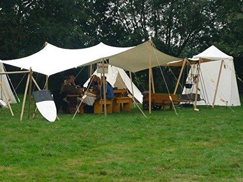 10ft x 10ft tarp TARPAULIN pre medival civil war canvas tent for Living  history Reenactment bell frame knight