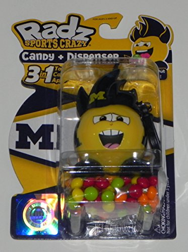 NCAA Michigan Wolverines Radz Candy Dispenser with Candy