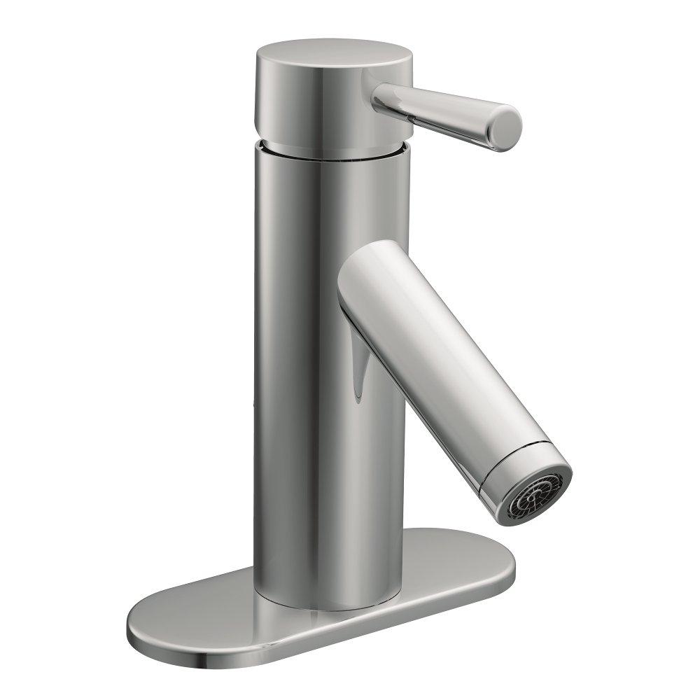 Moen 6100 Level One-Handle Low Arc Bathroom Faucet (Chrome), Touch ...