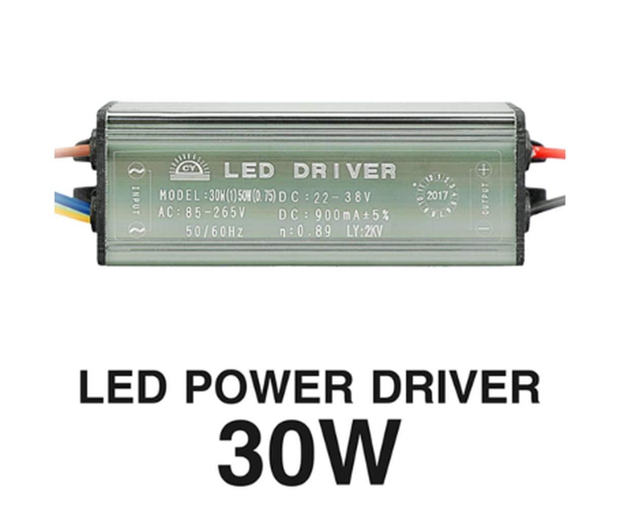 SGerste AC85-265V To DC22-38V 10W 20W 30W 50W IP67 No Flicker Convert LED Driver for Flood Light-30W