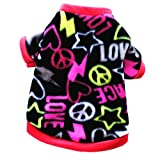 JJ Store Pet Dog Warm Fleece Sweater Puppy Heart Hoodies Coat Clothes Apparel Review