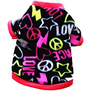 M, Hot Pink Mapletop Pet Dress Apparel Clothes,Summer Cute Pet Puppy Small Dog Cat Fly Sleeve Dress