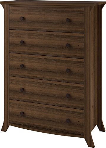 Ameriwood Home Oakridge 5 Drawer Dresser, Brown Oak from Altra Furniture