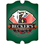 Vintage Personalized Pub Sign - Vintage Personalized ''Texas Hold-Em'' Poker Pub Sign