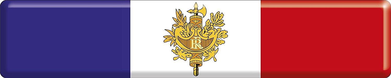 Artimagen Adesivo Bandiera Rettangolo Francia lungo con emblema resina 100 x 20 mm. Ediciones Imagina S.L.