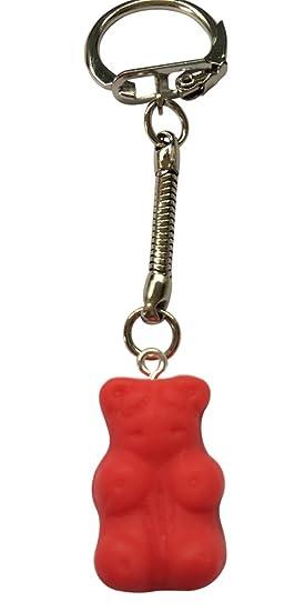 Llavero de osito de gominola de color rojo