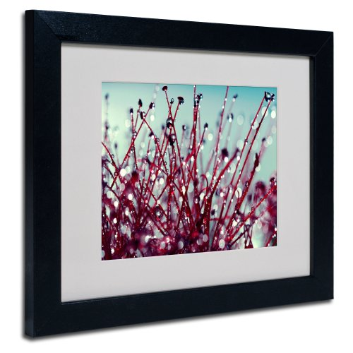 Morning Tunes Artwork by Beata Czyzowska Young, 11 by 14-Inch, Black Frame