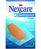 Nexcare Waterproof Bandages, Large, Knee and Elbow, Seals Out Water, Dirt, Germs, Ideal for Sports and Exposure to Water, 48 Bandages (6 Packs of 8 Each)