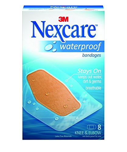Nexcare Waterproof Clear Bandages for Knee and Elbow, 8-Count Packages (Pack of - Waterproof Bandages Nexcare 3m