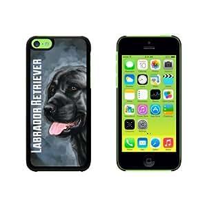 Black Labrador Retriever Blue - Dog Pet Snap On Hard Protective Case for Apple iPhone 6 plus 5.5 - Black