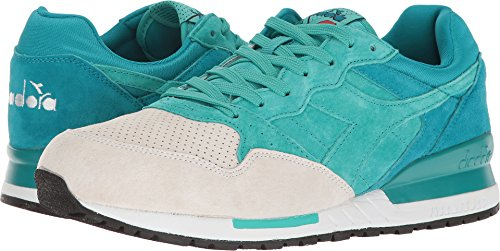 Diadora Intrepid Premium Herren Beige Wildleder Athletic Lace Up Laufschuhe Hafen Blau / Keramik