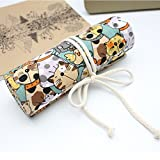 Best Great Big Canvas Fit Bands - Rosa Schleife Hand-made Pen Pencil Case 48 Slots Review