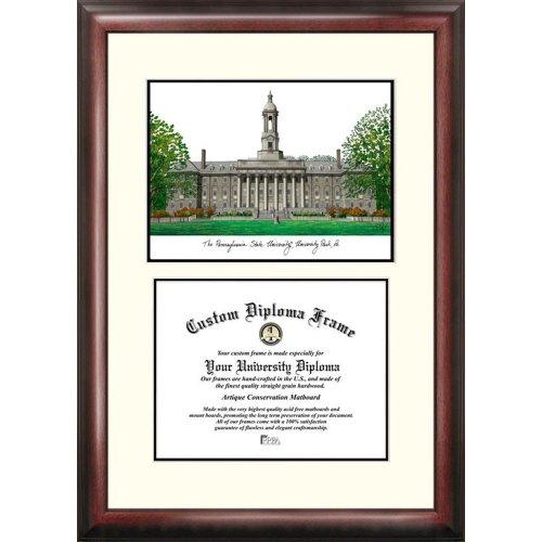 (Landmark Publishing Penn State Nittany Lions Framed Scholar Diploma Frame with Lithograph)