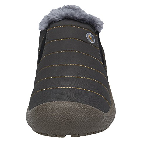 Caviglia Inverno Piatto Invernali Grigio Neve DENGBOSN da Donna Stivali Stivaletti Stivali Pelliccia Uzn0Apq