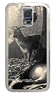 Stag Winter Clear Hard Case Cover Skin For Samsung Galaxy S5 I9600