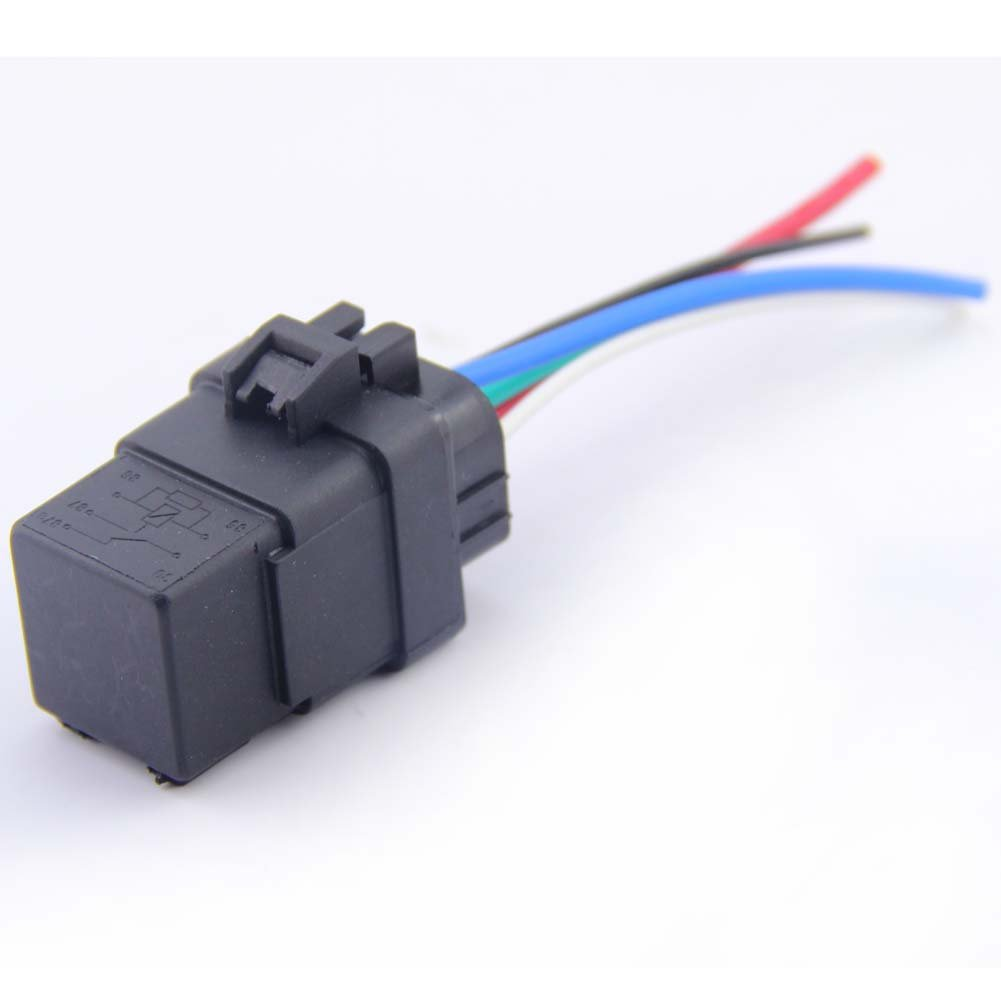 LOOYUAN 2 Sets Car Auto Truck Relay & Socket SPDT 12V 12 Volt DC 40A AMP 5Pin Kinglooyuan