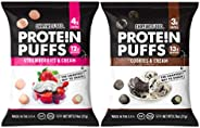 Shrewd Food Low Carb Protein Puffs 8 Pack | 100g Protein (14g per Serving) | High Protein, Gluten Free Snacks | No Artificia